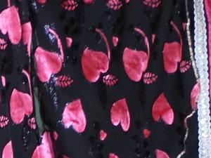 Japanse kimono - zwart:fuchsia - 3790