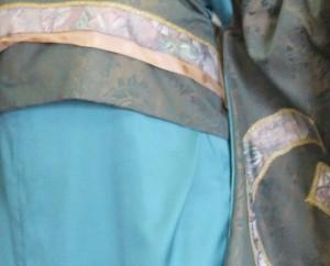 Japanse vrouw - zeeblauw:grijsgroen - 3792